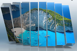 A beautiful 3D collage