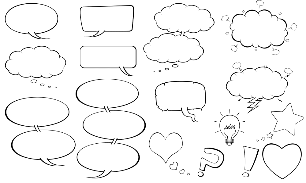 photoshop cartoon speech balloons
