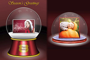 Put your image inside a beautiful snow globe!