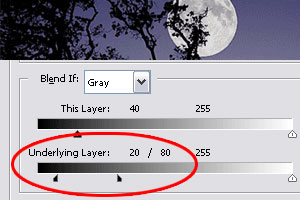 blend-if layer style settings