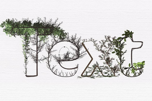 "Photoshop tutorial: ""Botanical"" text effect"