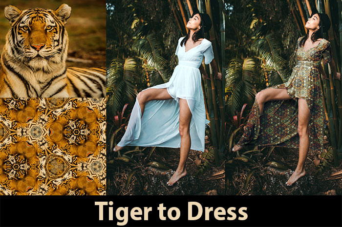 tiger to dress using the capture photoshop cc extension