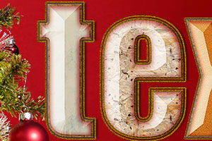 Visit the Festive text Photoshop tutorial page