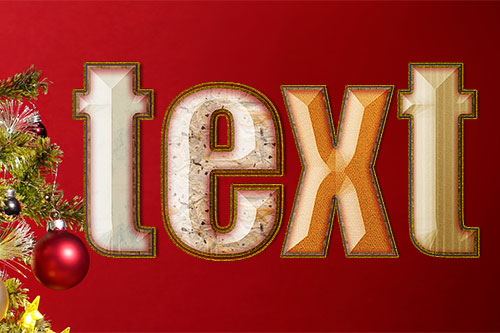 festive text in Photoshop CC