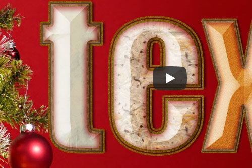 Festive text effects for Photoshop CC