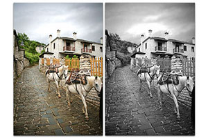 grayscale conversion in photoshop