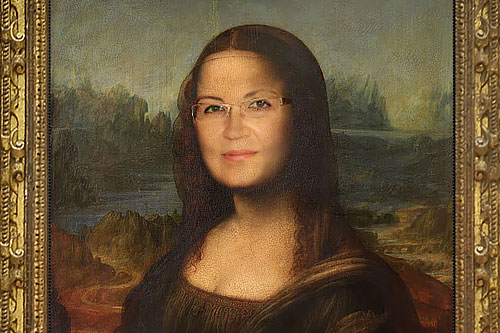 Photoshop tutorials: replace the face of Mona Lisa