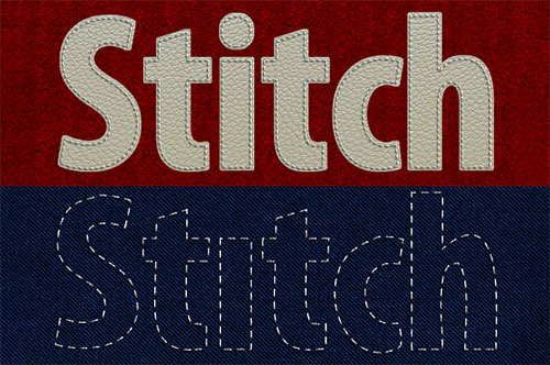 Convert Photoshop text & shapes to stitched graphics