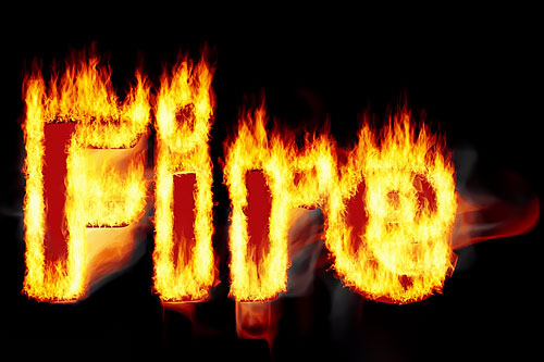 Photoshop tutorial: Set your text on fire