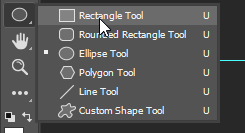 select the rectangle tool